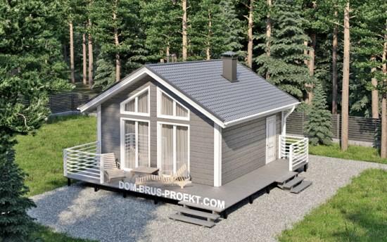 красивый проект дома из бруса 6х6 метров