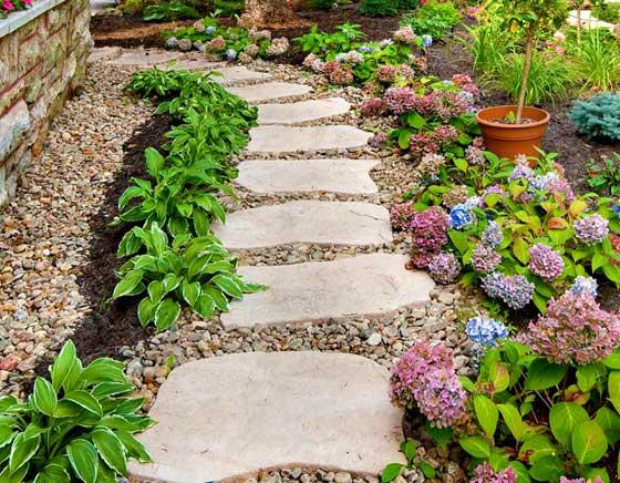 Садовые дорожки из плитки без бордюра