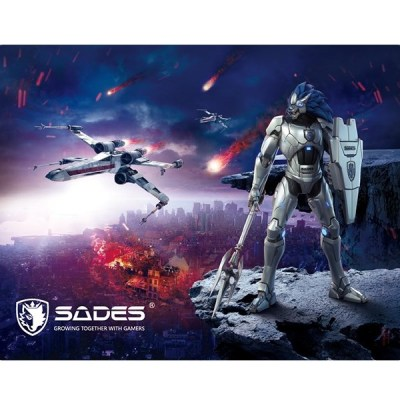 SADES-Gaming-Mouse-Pad-Lightning-Low-Friction-Rubber-base-350-x-260mm