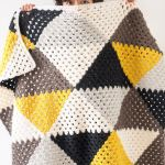 Love Triangles Granny Stripe Baby Blanket One Dog Woof