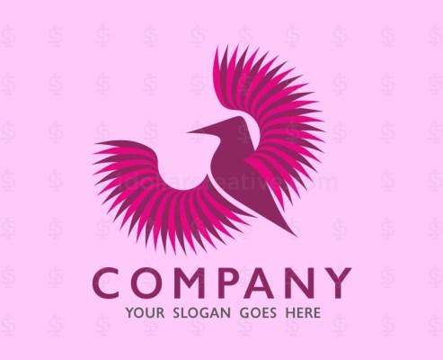 Bird Flying Logo Template
