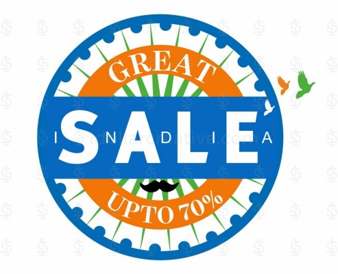 India Independence day celebration, Great Sale Banner