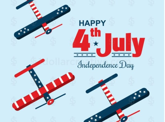 Air show on USA independence day Template