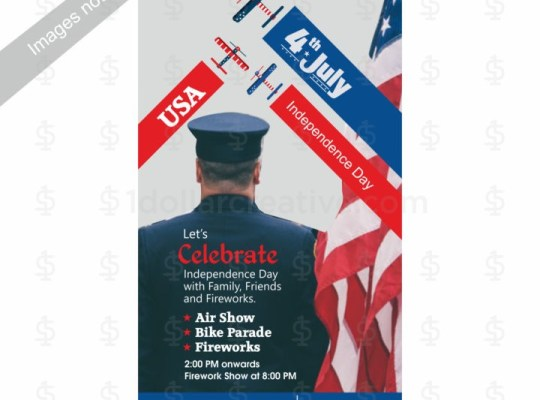 4th of July Independence Day Invite Template