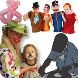 Een Clown, poppenkastspeler of deejay is zo geboekt