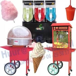 maak zelf popcorn slushpuppie suikerspin softijs met onze machines