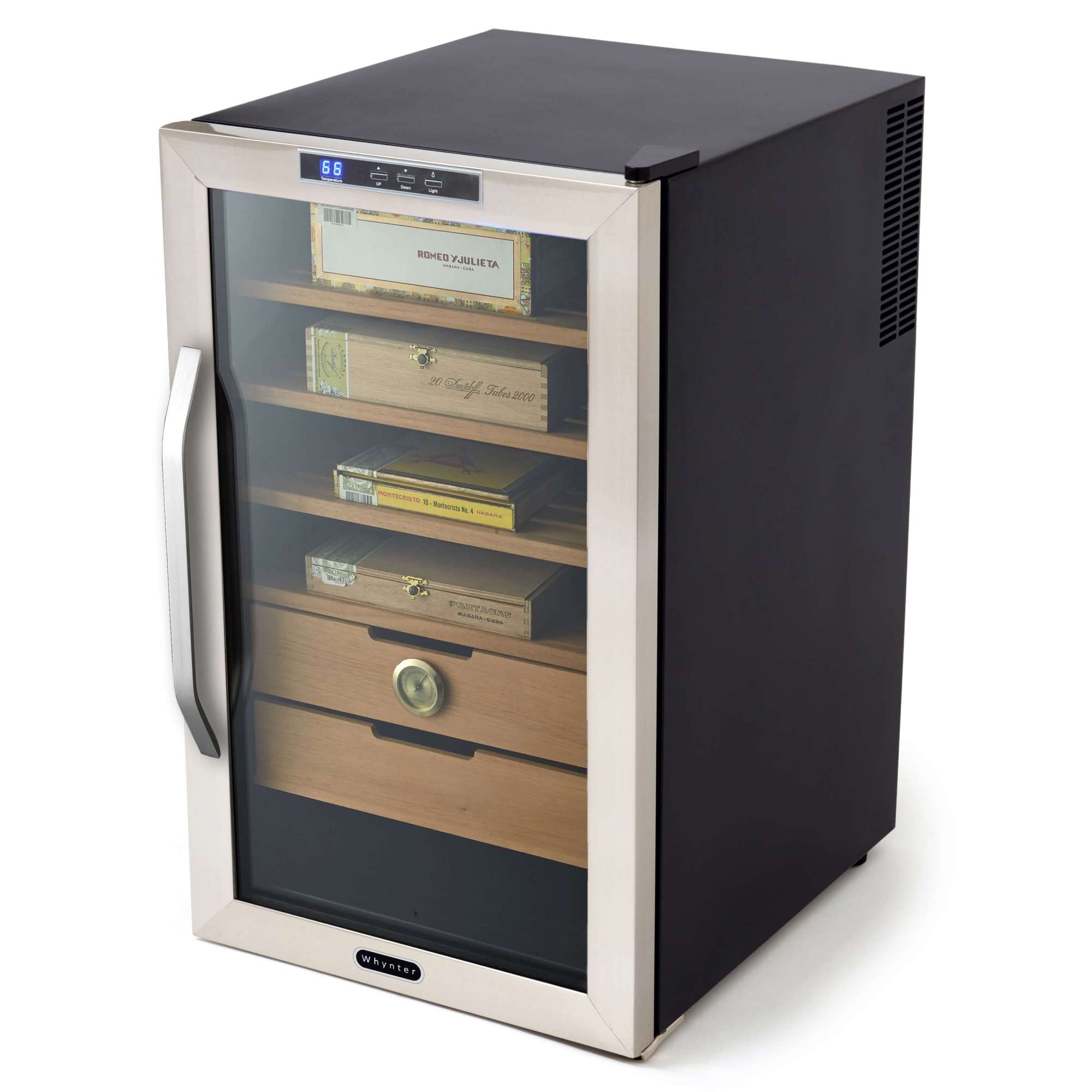 hight resolution of chc 251s whynter stainless steel 2 5 cu ft cigar humidor
