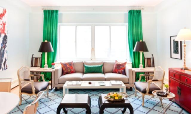 green and red living room oak furniture land rooms mcgrath ii blog below by nick olsen 534 west 42nd street condo 1
