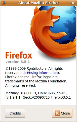Successfully upgraded to Firefox-3.5.1
