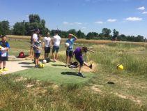Die D2-Junioren versuchten sich beim Fußball-Golf in Worms und hatten dabei großen Spaß.