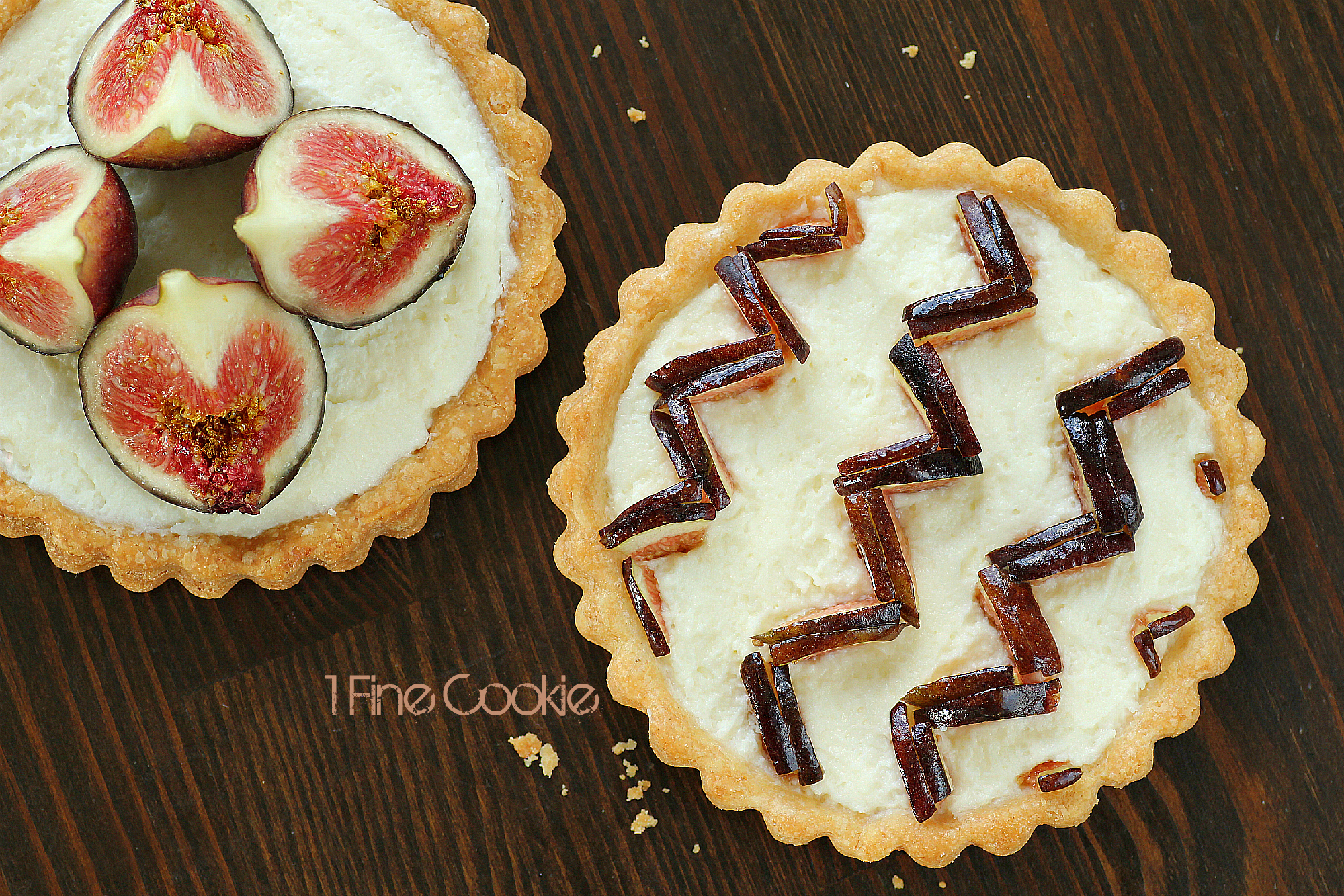 Chevron Pattern Fig Tart Preppify your Dessert  1 Fine