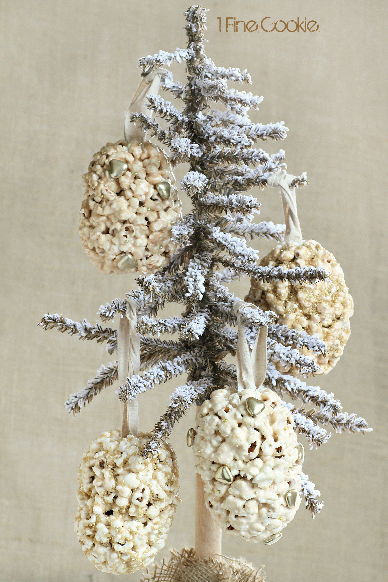 Popcorn Ornament Balls Filled with Holiday Surprises  1 Fine Cookie