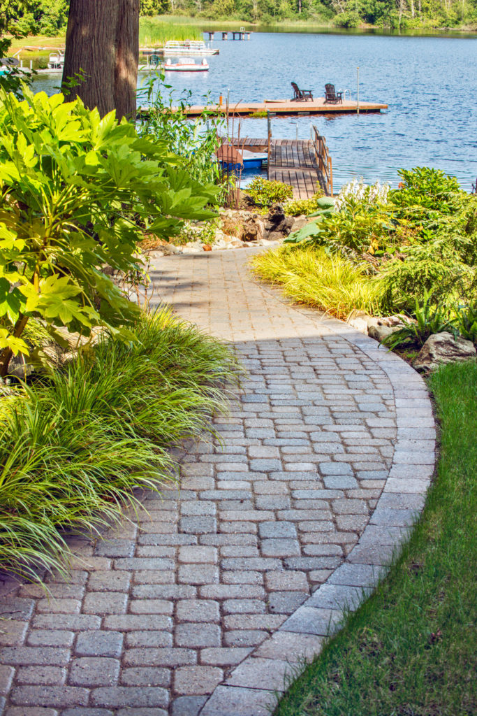 diy backyard projects with pavers and retaining walls garden paths planters and edging mutual materials