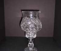 Triple A Resale Glass Candle Holder with Hurricane Shade