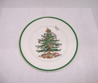 Triple A Resale 4 SPODE Christmas Tree Dinner Plates