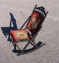 Triple A Resale Antique Sewing Folding Rocking Chair