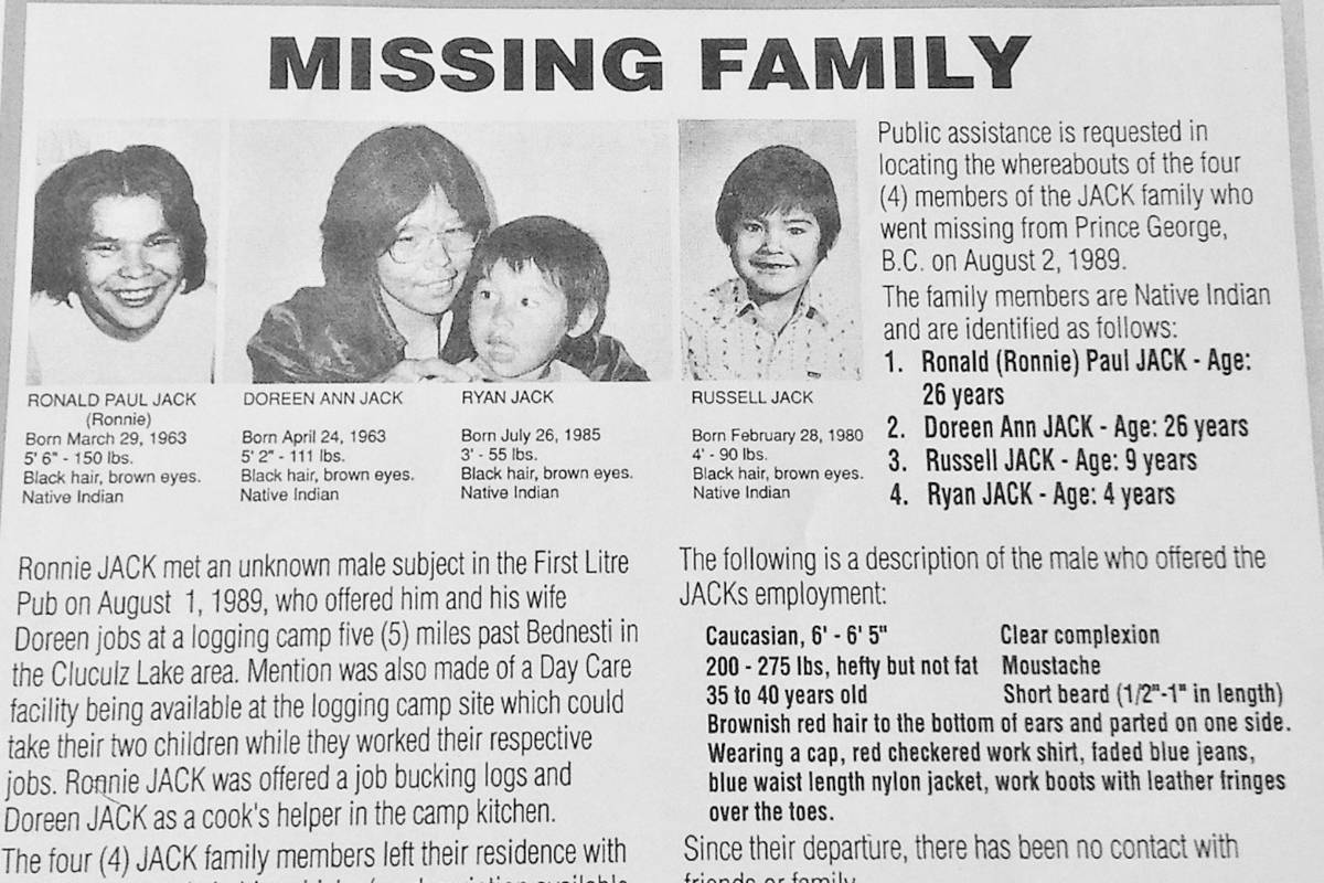 29th anniversary of the missing Jack family