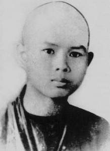 Thay as a Novice Monk, aged 16