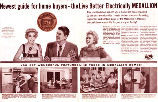 Ronald Reagan in Print Advertising Along With Other Celebrities at the Time.