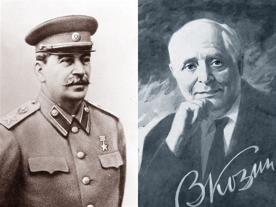 Sovětský diktátor Josif Vissarionovič Stalin a tenorista Vadim Kozin