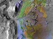 Kráter Jezero na Marsu