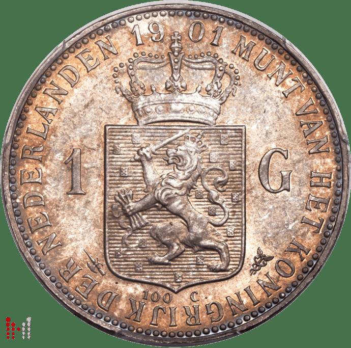 1901 Gulden Wilhelmina