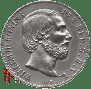 1853 Gulden Willem III