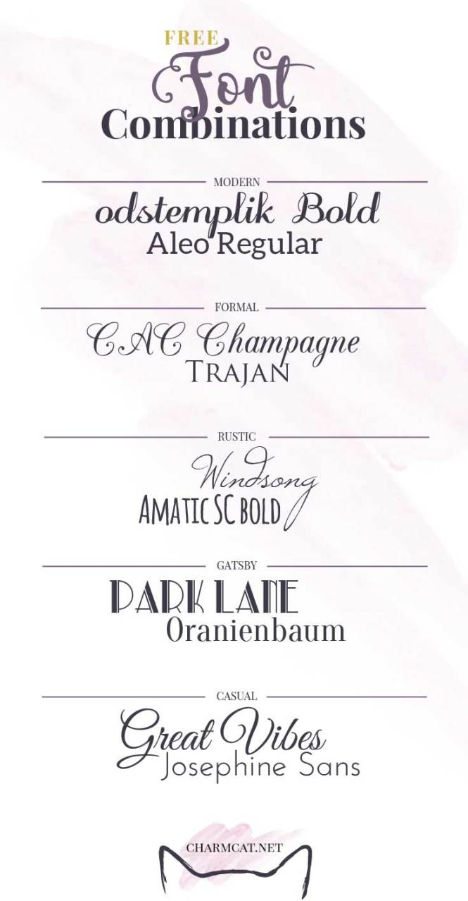 Font Combinations For Invitations
