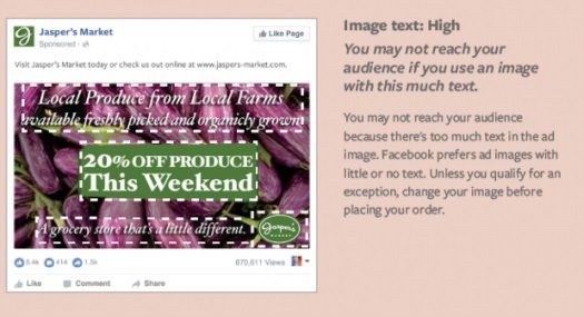 Facebook Ad - Image text High