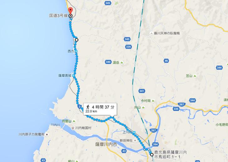 日本縦断の旅10日目の進路