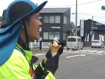 サクラカネヨの醤油アイス