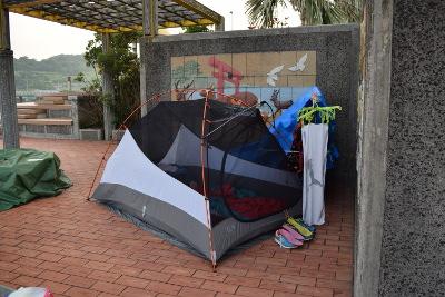 フライを取ったテントの様子
