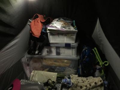 ボランティアビレッジでのテント生活