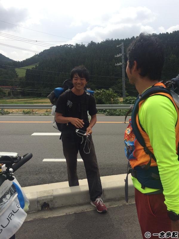 日本縦断徒歩ダーと出会う