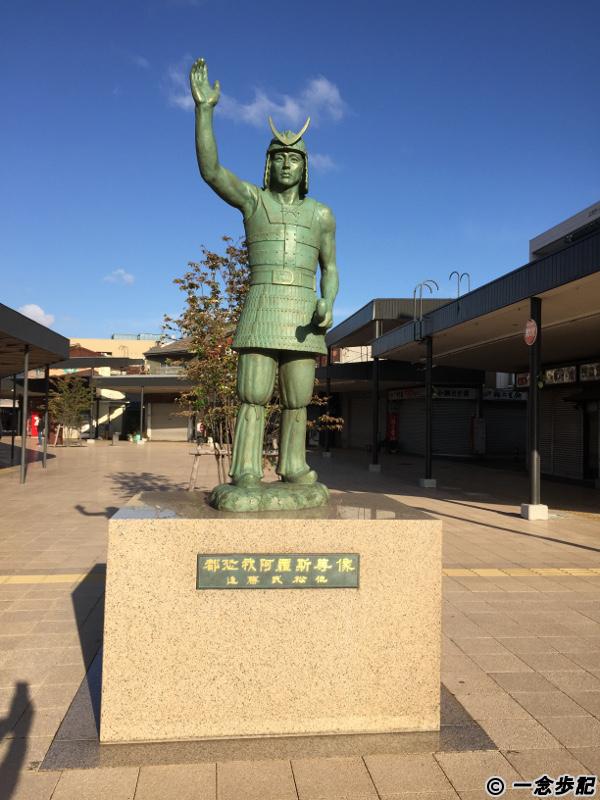 敦賀駅近くの都怒我阿羅斯等(つぬがあらしと)の銅像
