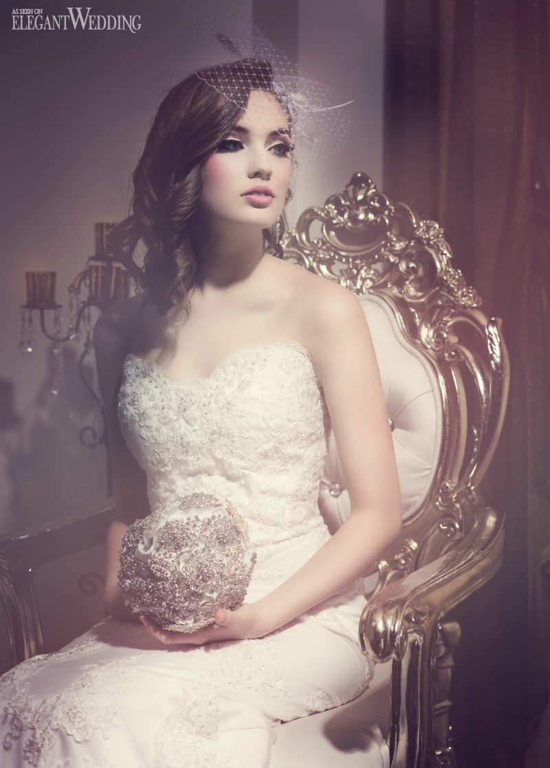 Old Hollywood Glamour Bridal Makeup  Hair  ElegantWeddingca
