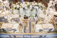 White And Gold Wedding Table Settings & Full Size Of ...