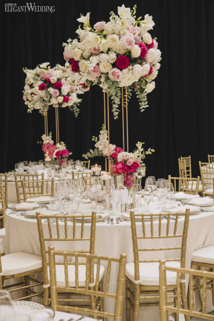 Elegant Pink Ombre Wedding in Montreal  ElegantWeddingca