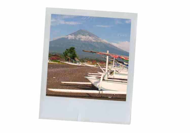 Amed, bali, indonésie, photographie, paysage, volcan agung