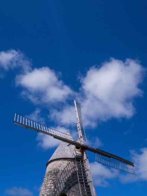 marie galante, guadeloupe, paysage, moulin