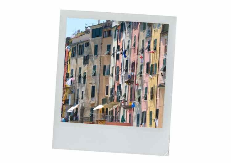 portofino, façade, fenêtres, ligurie, italieportofino, façade, fenêtres, ligurie, italie