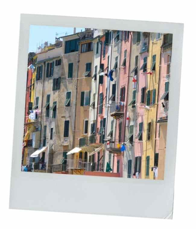 portofino, façade, fenêtres, ligurie, italie