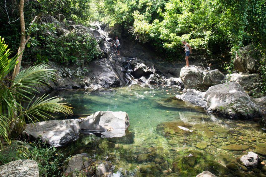 cascade, trois rivières, basse terre, guadeloupe