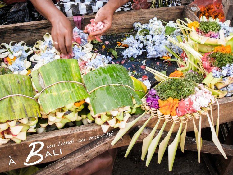marché, Bali, indonésie