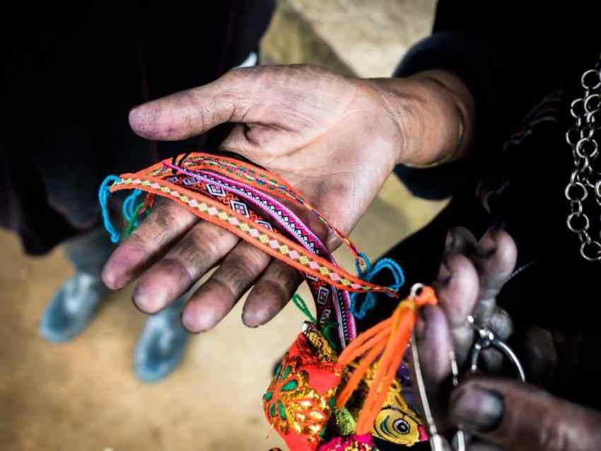 main, indigo, portraits ethniques, vietnam, ethnies minoritaire