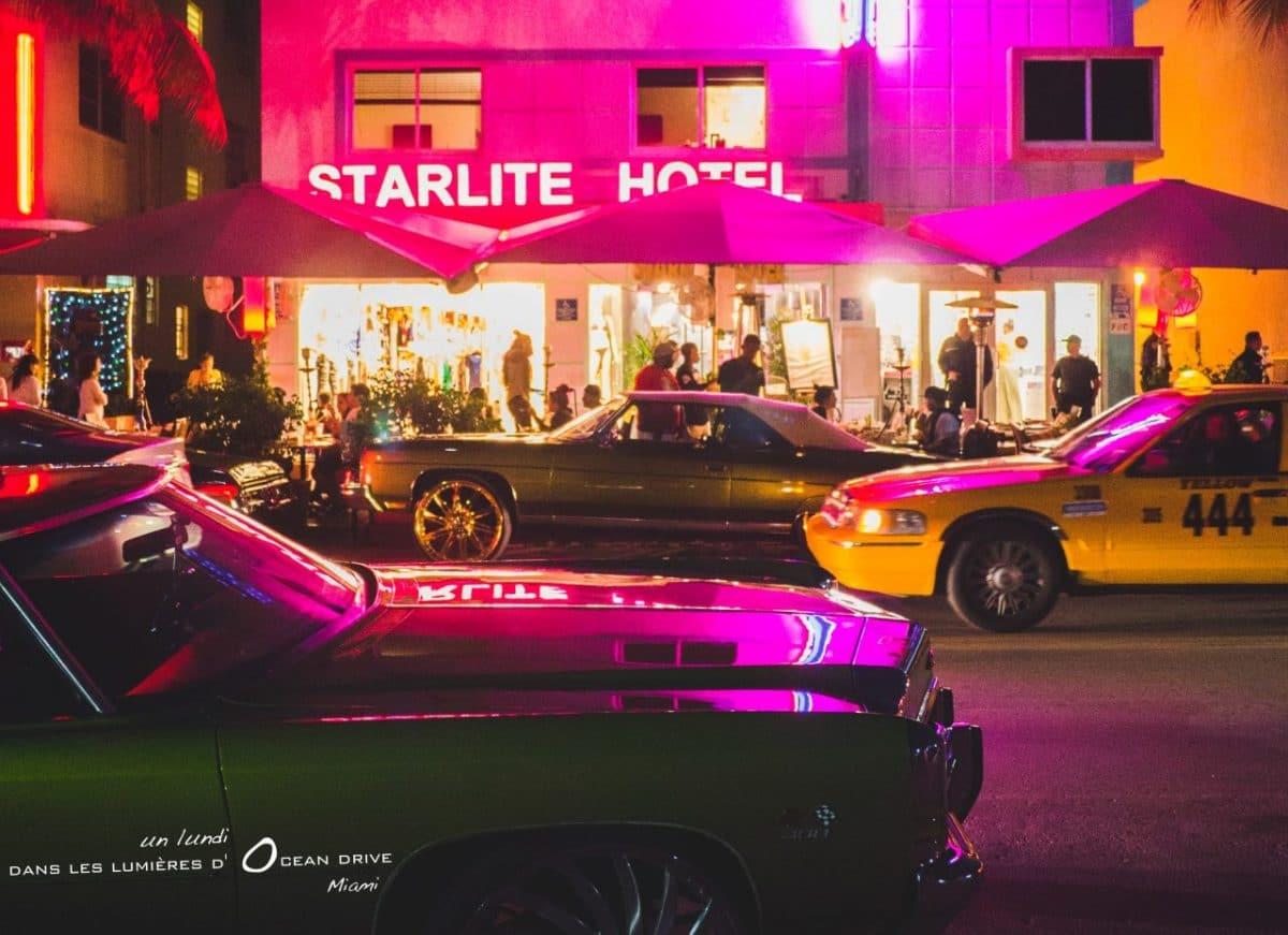 1 soir dans les lumières d'Ocean Drive à Miami