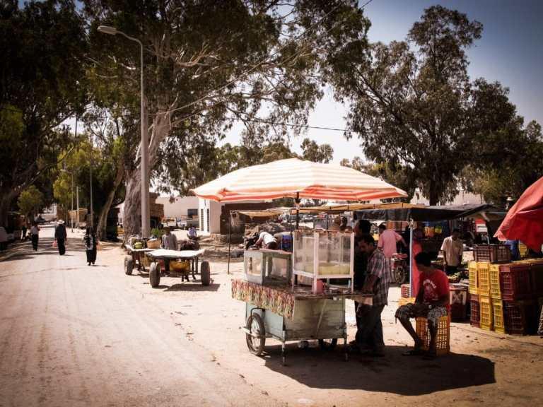 portrait, marché, tunisie