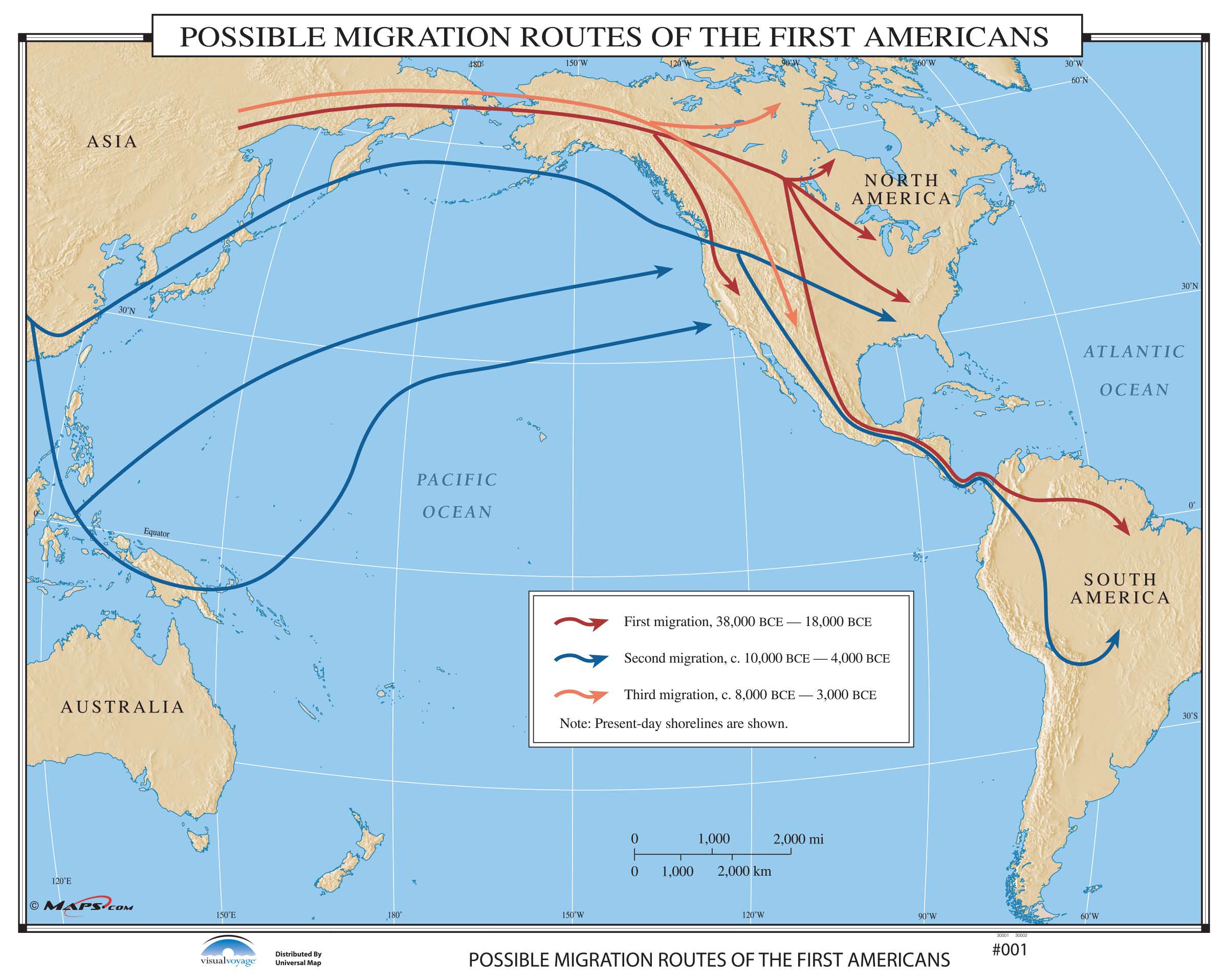 001 Possible Migration Routes Of The First Americans On
