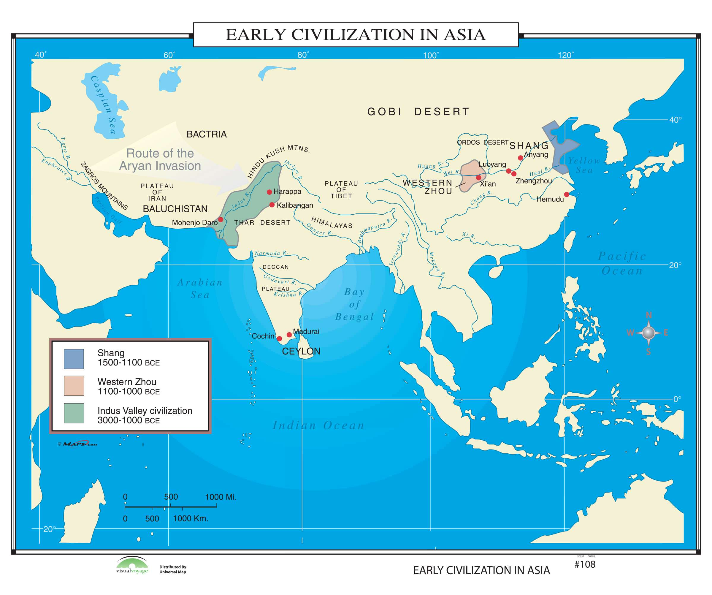 108 Early Civilization In Asia On Roller W Backboard