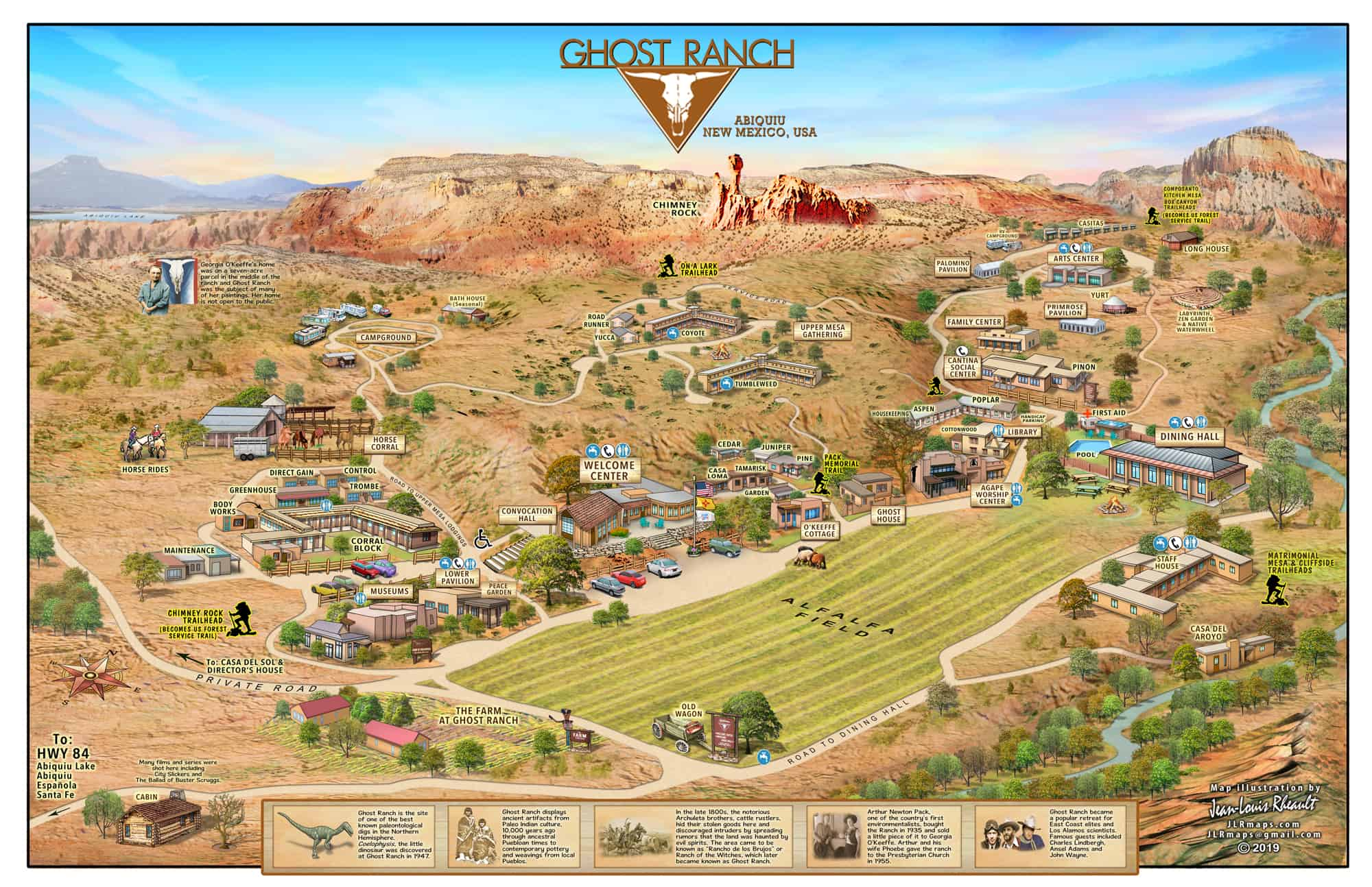 Ghost Ranch New Mexico Map